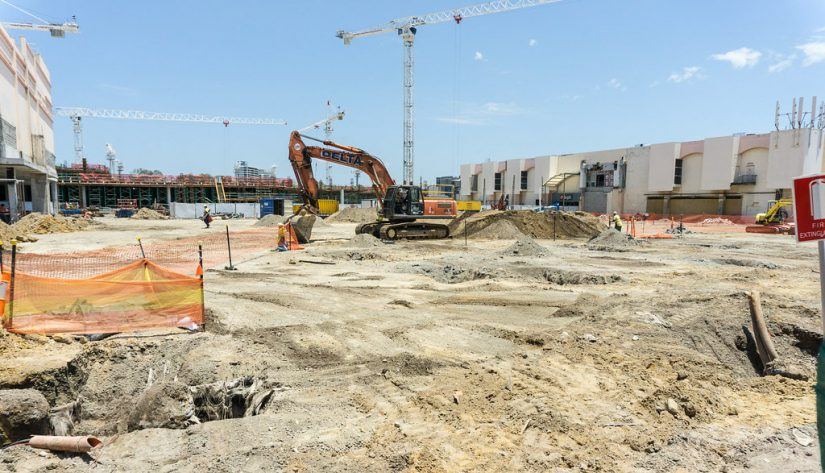 Photo of construction area